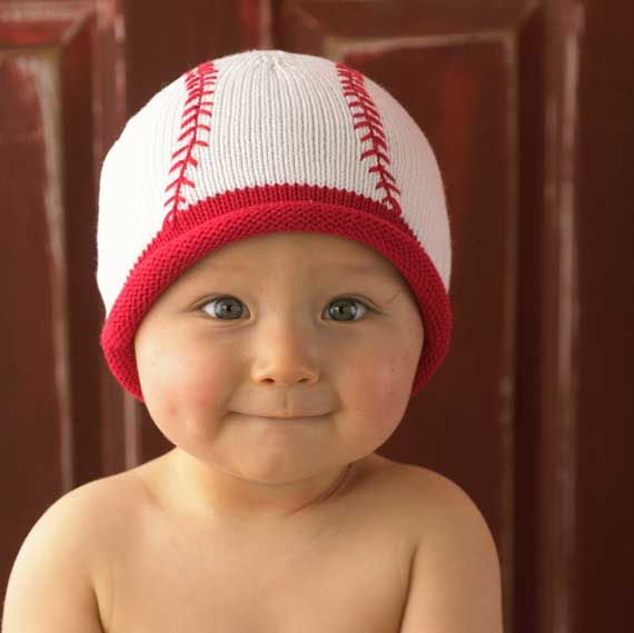 Knitted Baseball Hat Precious Baby Crochet Baby Hat Patterns