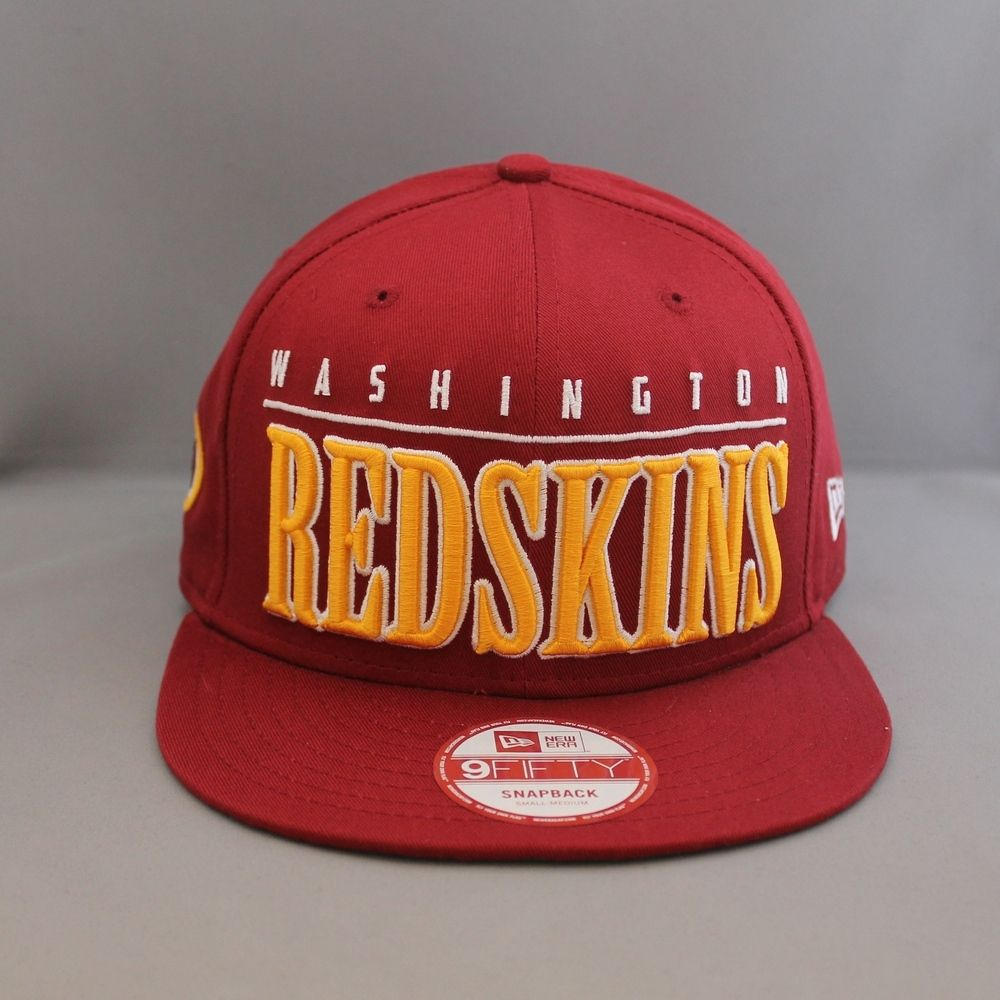 the latest bfd1b d155a New Era  Big Word NFL  Washington Redskins 9Fifty Snapback - Team Colours  Cotton 9FIFTY in team colour featuring an oversized wrapped team wordmark  over ...