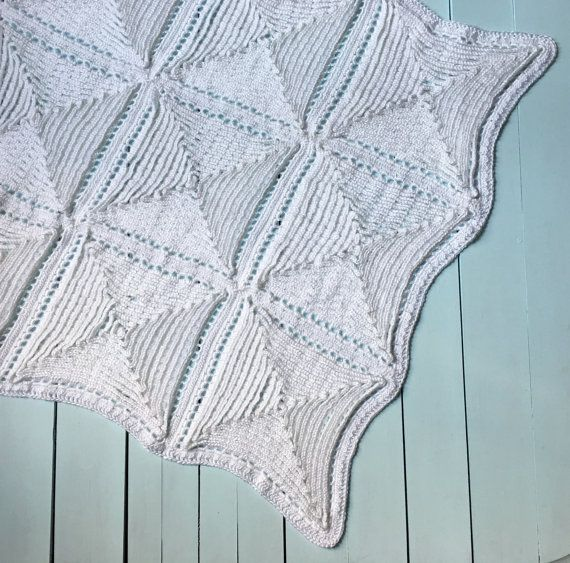 Christening Baby Blanket CROCHET PATTERN, PDF, Crochet Pattern for ...