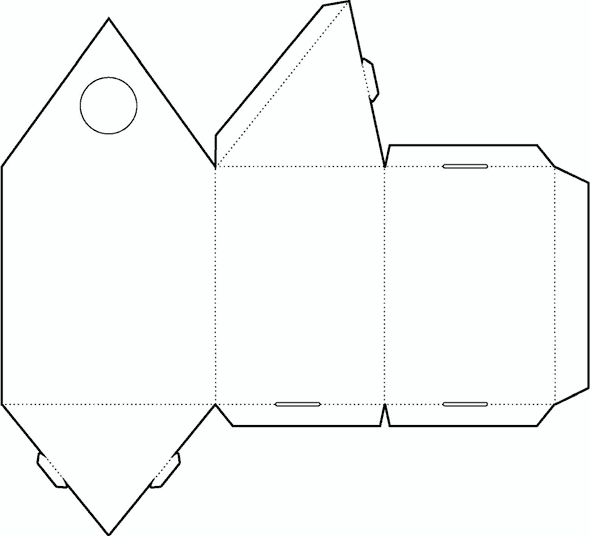 Triangle Box Template No02