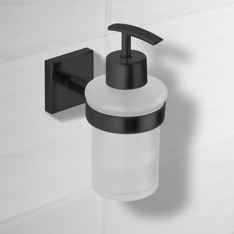 Matte Black Wall Mounted Soap Dispenser In 2020 Soap Dispenser