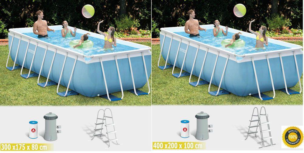 Details zu Intex Pool Prism Set Frame Schwimmbecken Family Pool ...