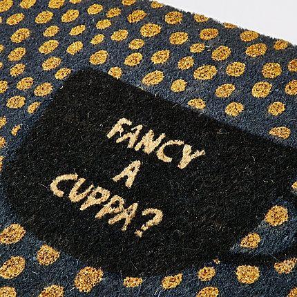 River Island Bombay Duck Grey cuppa tea door mat #cuppatea Bombay Duck Grey cuppa tea door mat #cuppatea