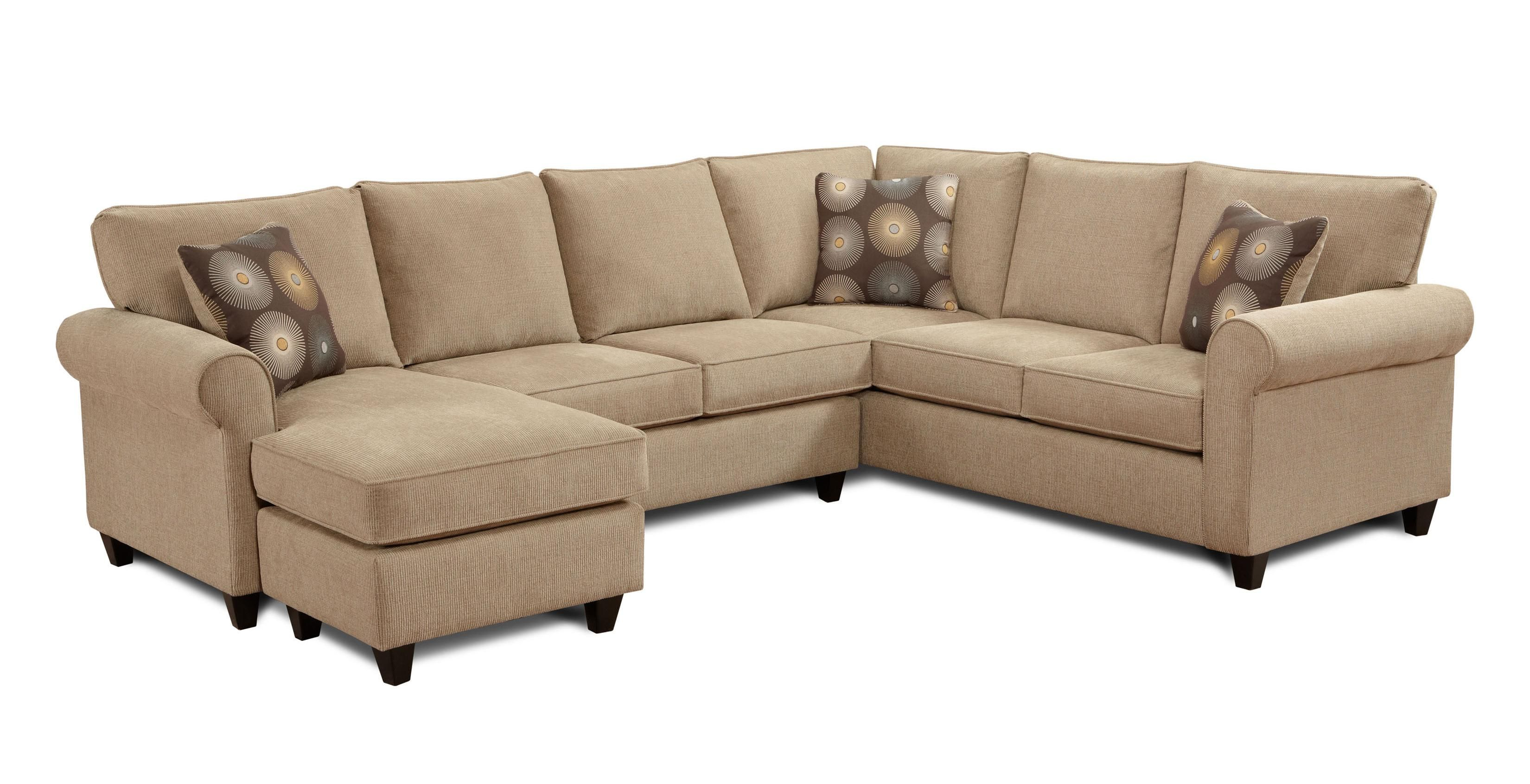 1198 1196 2 Piece Sectional With Chaise By Fusion Furniture New