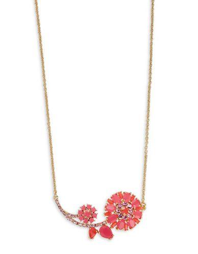 fc4dbfc74f8663 Kate Spade New York Trellis Blooms Mini Floral Pendant Necklace Women'