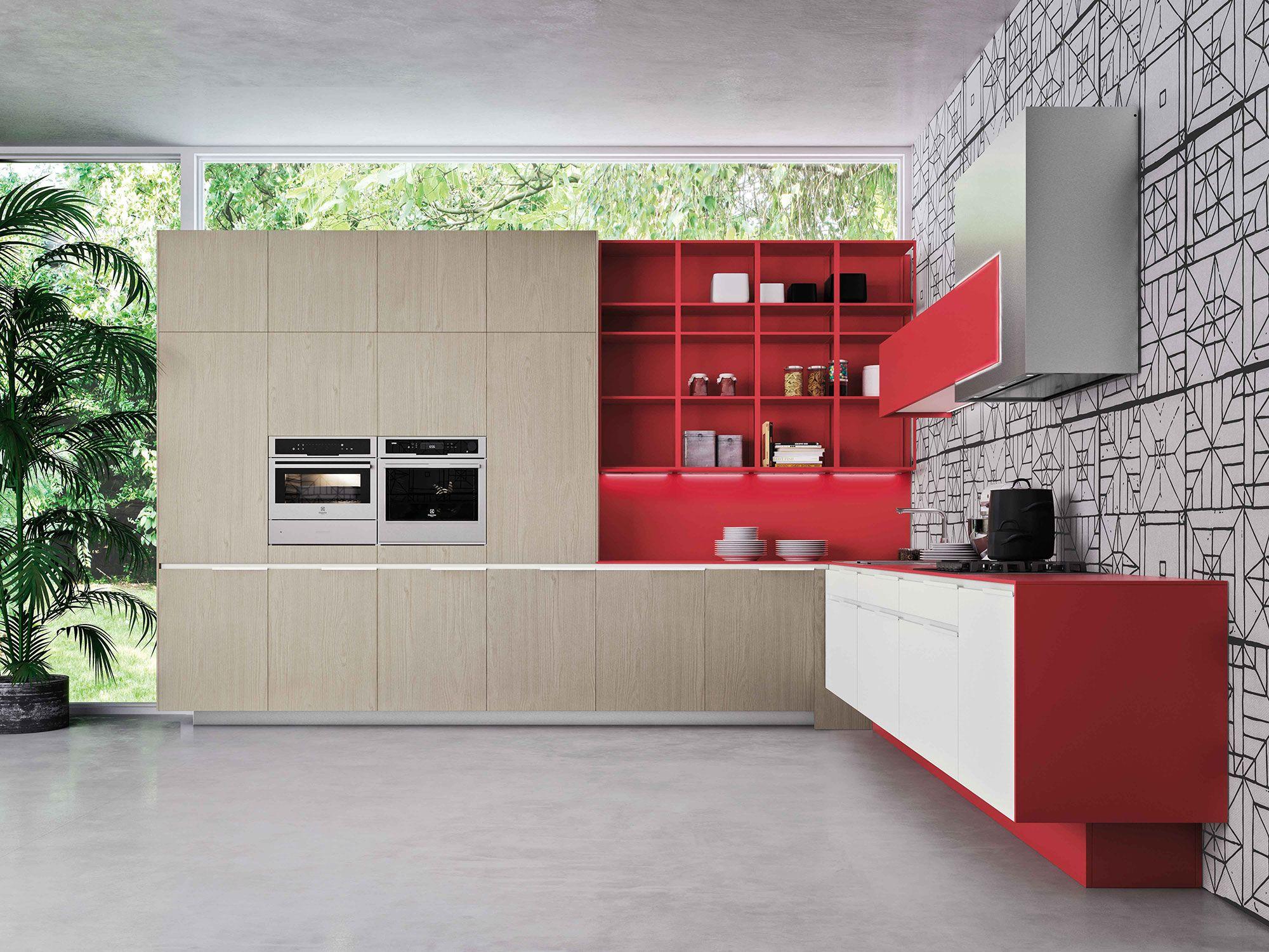 Orange Evo | Snaidero | Office color | Pinterest | Cucina, Kitchens ...