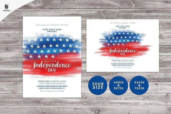 Happy Independence Day Flyer by Madhabi Studio on @creativemarket - independence day flyer