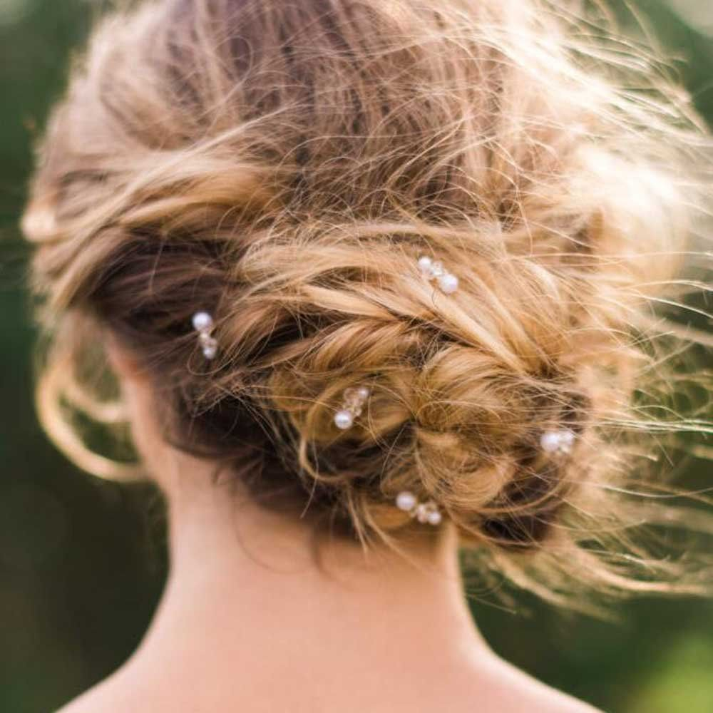 Venusvi Bridal Wedding Hair Pins for Women and Girls Bridal Crystal