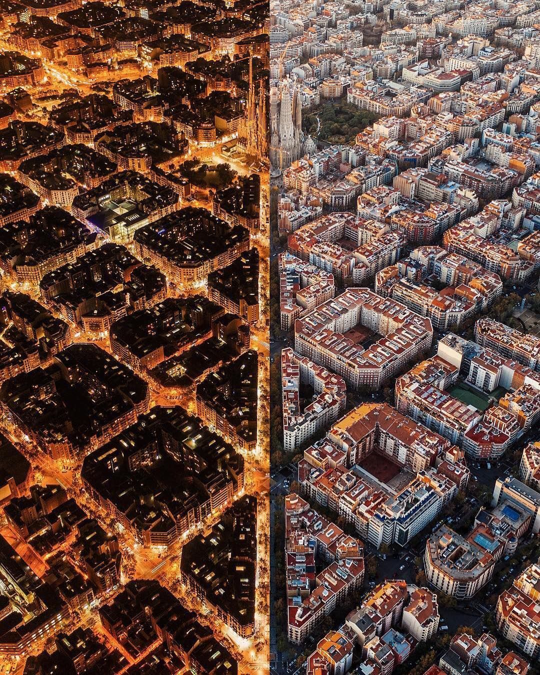 earth official on instagram night and day barcelona spain photo by c will cheyney willcheyney earthofficial day for night city barcelona earth official on instagram night and