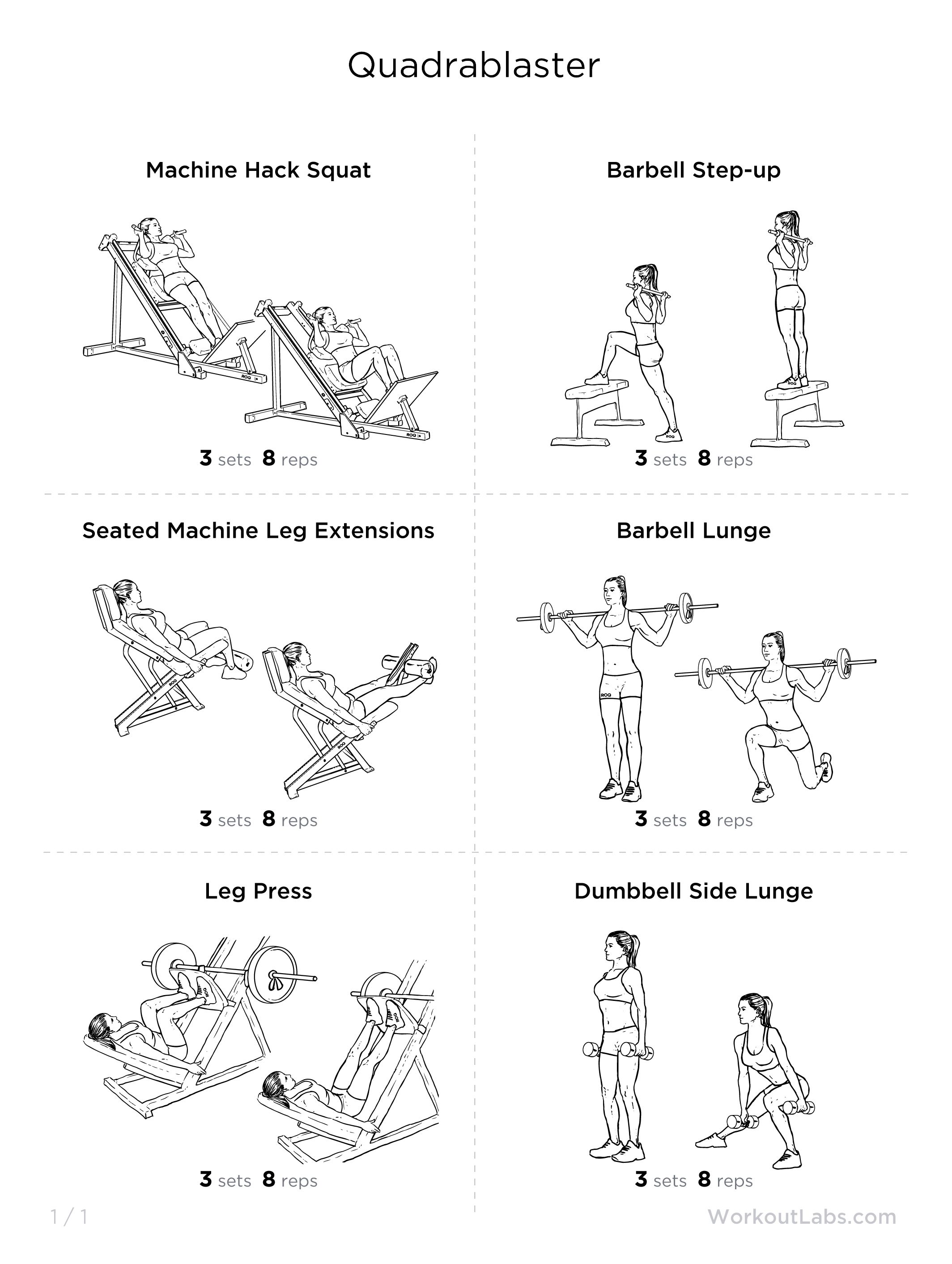 Quadrablaster the quad focused leg workout bombshell