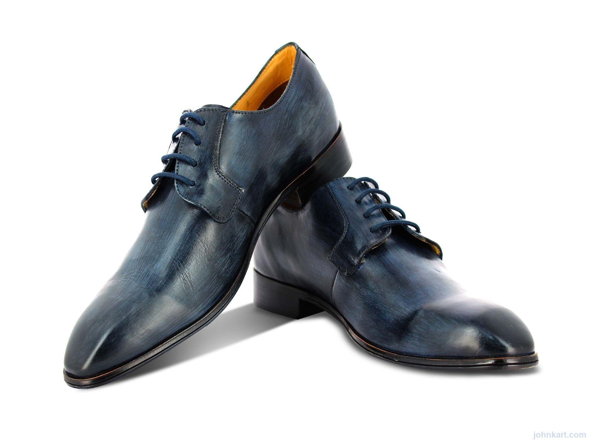 Alberto Torresi Zegna Blue Formal Shoes