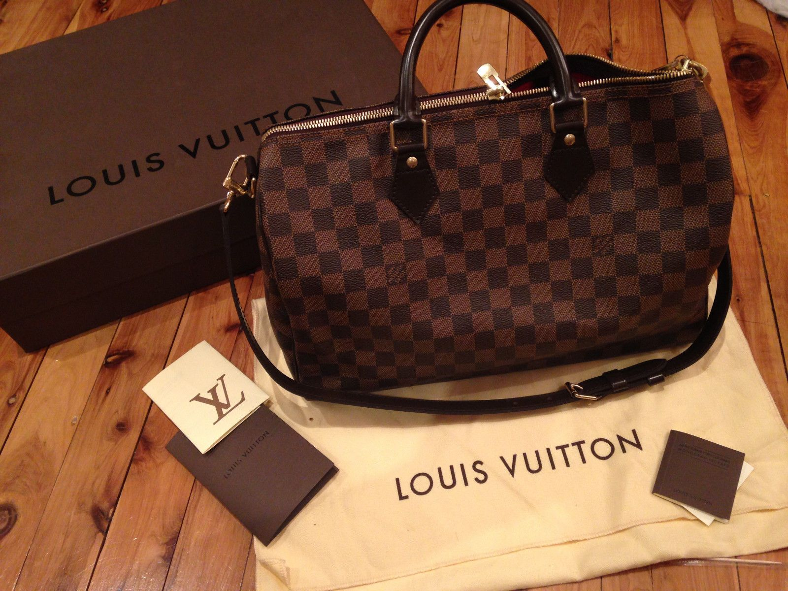 Authentic Louis Vuitton Speedy Bandouliere 35 Damier in Liverpool, NSW    eBay 59782d39c37