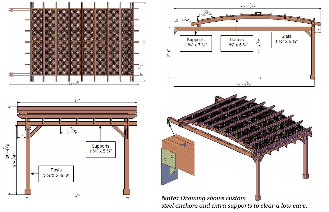 Garden Pergola Length 22 Ft Garden Pergola Width 14 Ft Wood Type Warranty Redwood 15 Yr Warranty Most Popular Roof Styles Timber Pergola Pergola