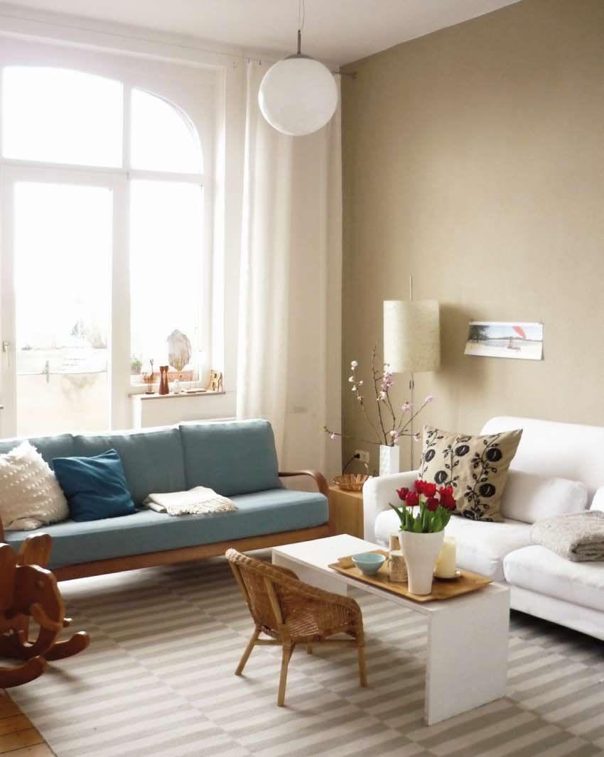 längliches wohnzimmer einrichten  Home living room, Vintage