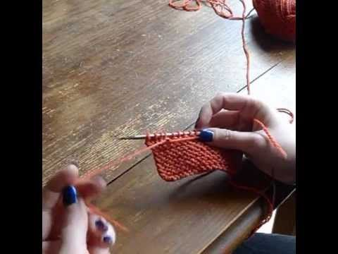 Changement De Pelote Tricoter Une Maille Avec Le Fil De La Fin De