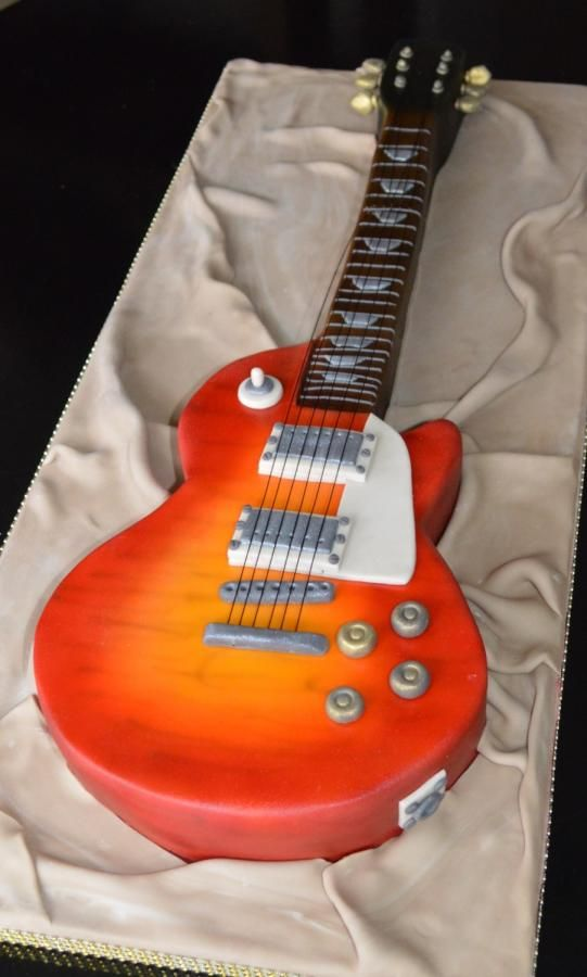 guitar templates for cakes - my gibson les paul guitar cake cake by severine gibson