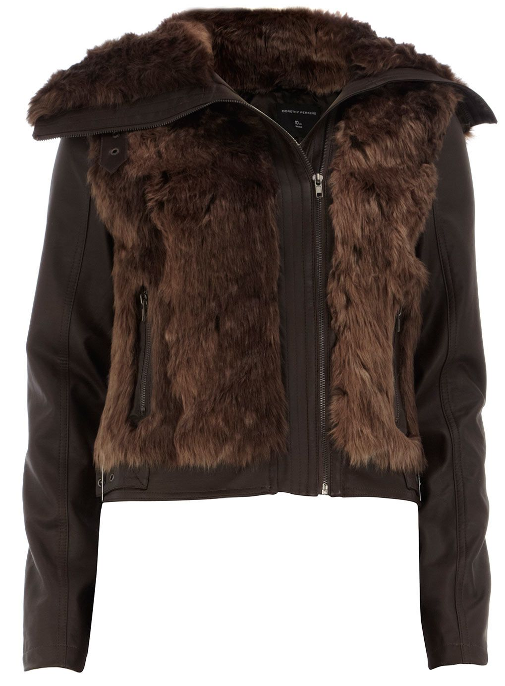 Brown fur body biker