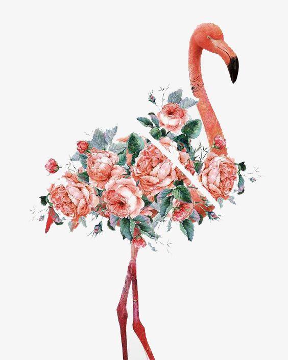 aquarela flamingo flamingo fivela sem elementos a tinta