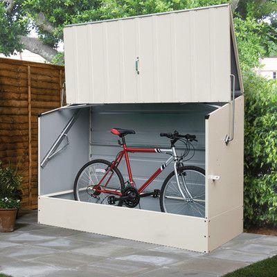 6 5 Ft W X 3 Ft D Metal Horizontal Bike Shed Bicycle Storage Shed Bike Shed Steel Storage Sheds
