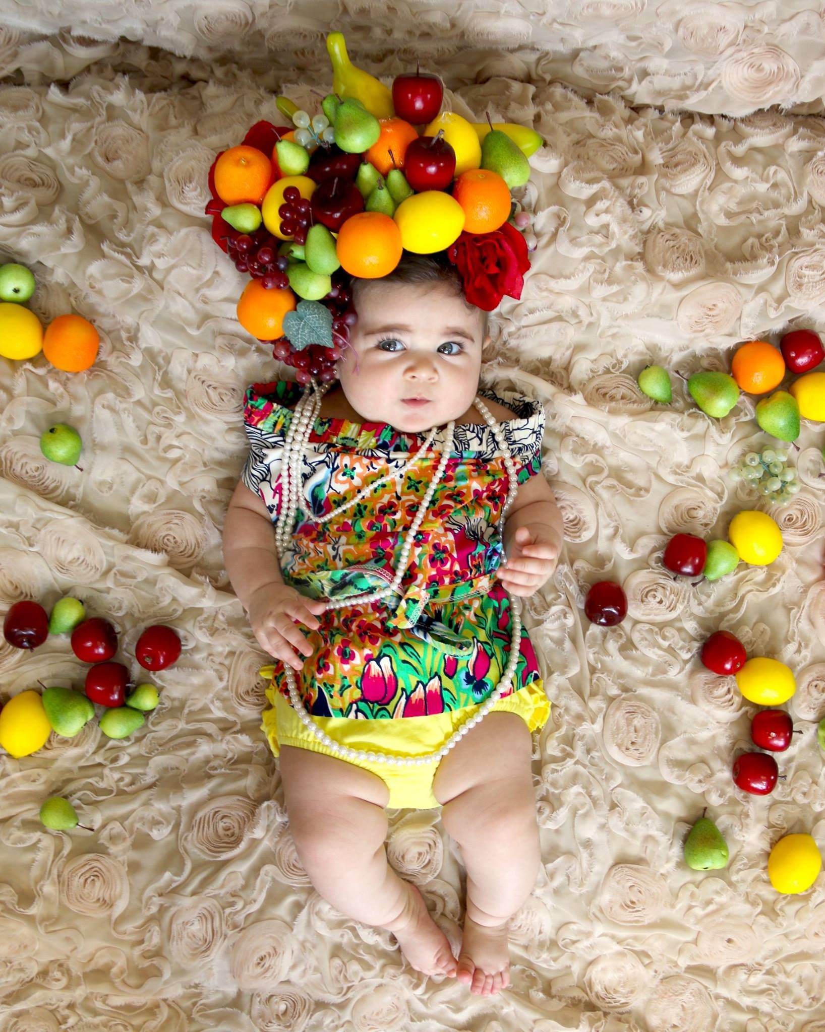 6th Photoshoot Baby girl pictures Summer Theme Carmen ...