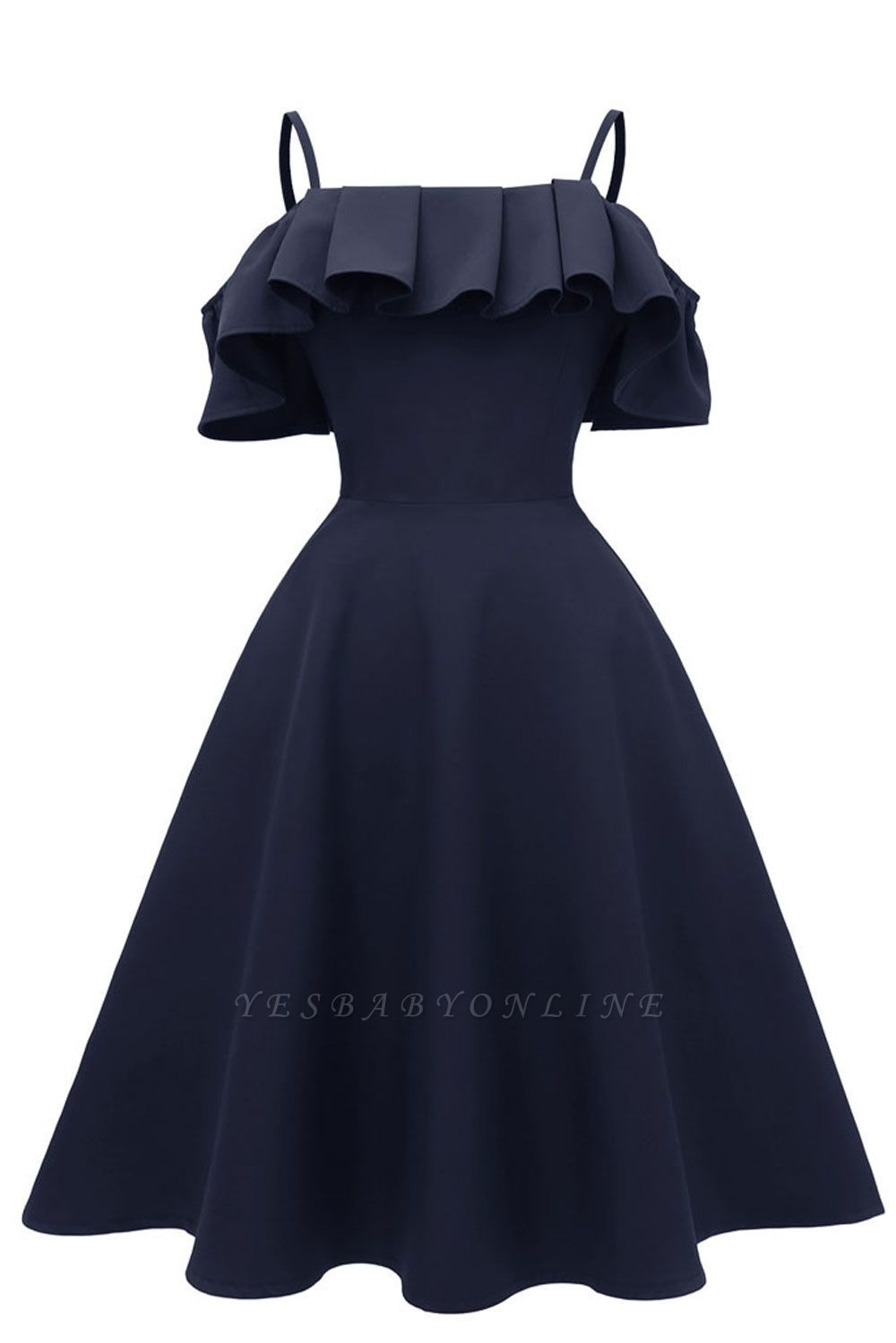 Lovely Spaghetti Straps Cascading Ruffles Vintage Short Dresses Vintage Short Dress Short Dresses Vintage Dresses [ 1499 x 1000 Pixel ]