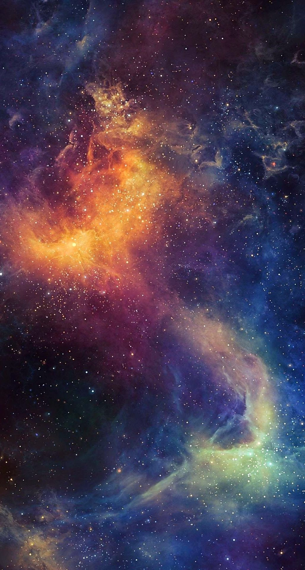 Beautiful Colored Space Nebula IPhone 6 Plus HD Wallpaper