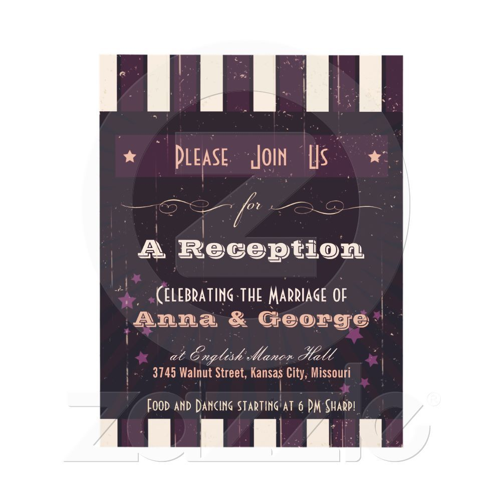 Beau Reception Only Invitation Wording