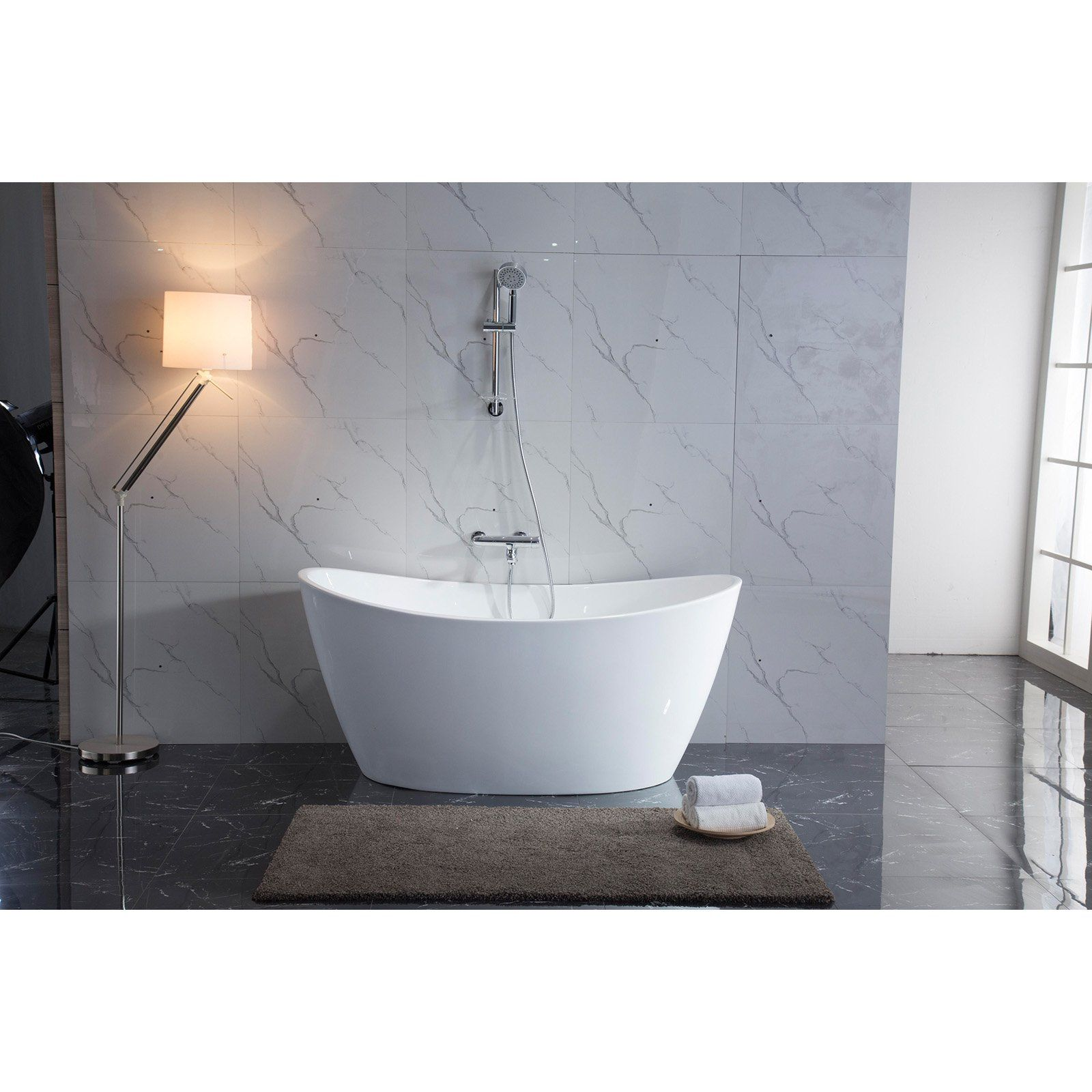 Azzuri Maya Bt023d 67 In Freestanding Soaking Bathtub Free