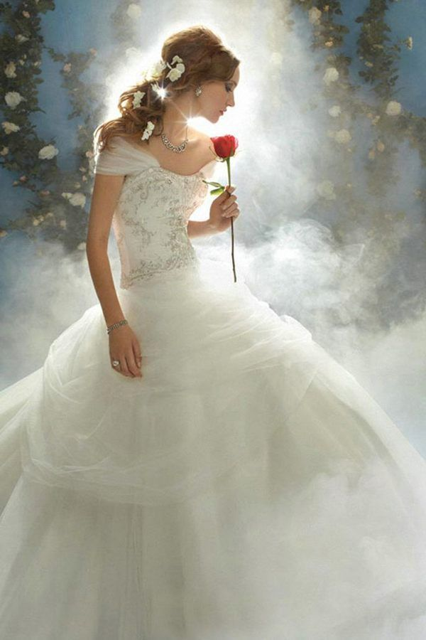disney princess wedding dresses belle | My perfect day | Pinterest ...