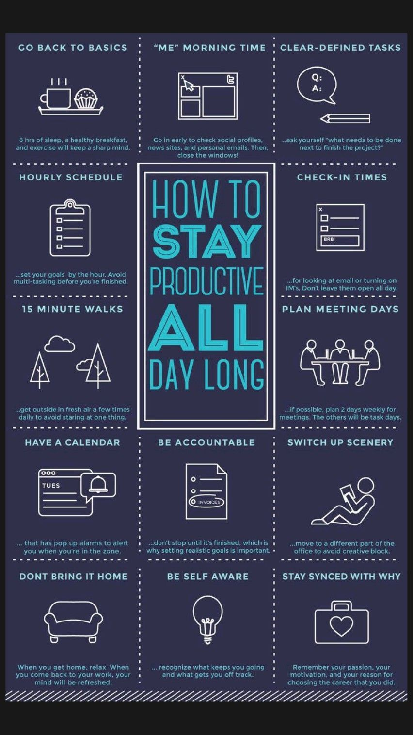 Stay productive all the day