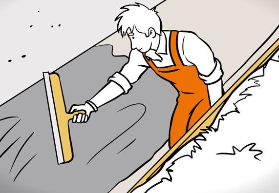 Heimwerker Erneuert Bitumenanstrich Rund Um Einen Feuchten Keller Keller Kellersanierung Dachbau