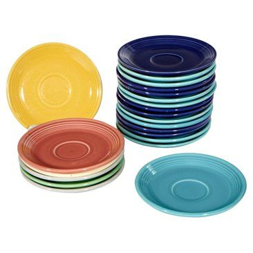Check out this item at One Kings Lane! 1950s Small Fiesta Plates, 22 Pcs