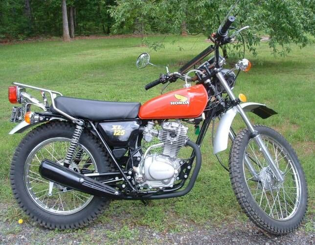 1974 honda xl 125 miscellaneous pinterest motos and motos anciennes. Black Bedroom Furniture Sets. Home Design Ideas