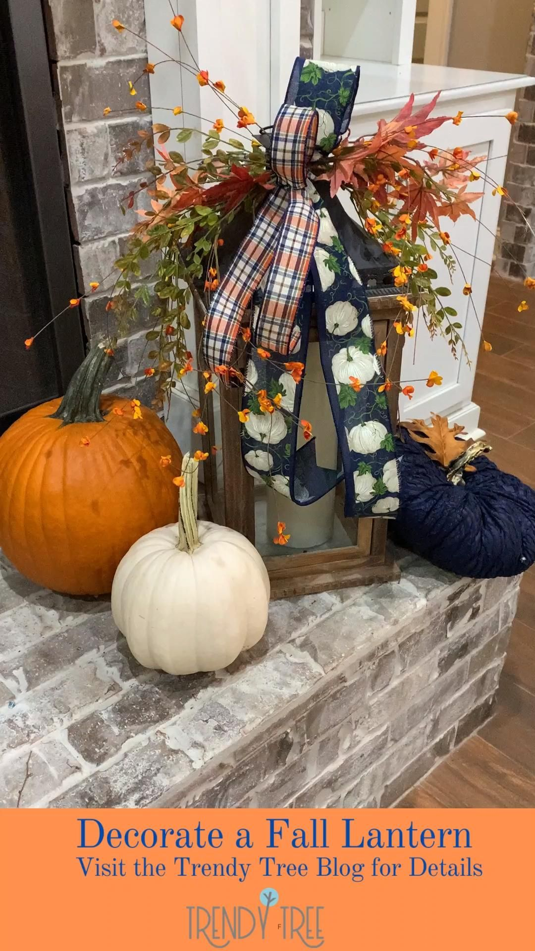 Decorate a Lantern for Fall