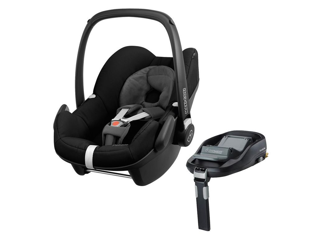 Maxi Cosi Pebble Group 0 Plus In Black Devotion Designed For Quinny And Familyfix Isofix Base Baby Car Seats Car Seats Maxi Cosi Car Seat