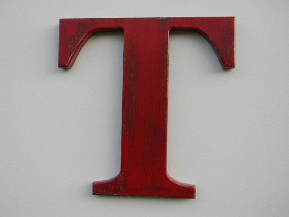 wooden letter rustic wall hanging letter t 12 by woodzproducts 2495