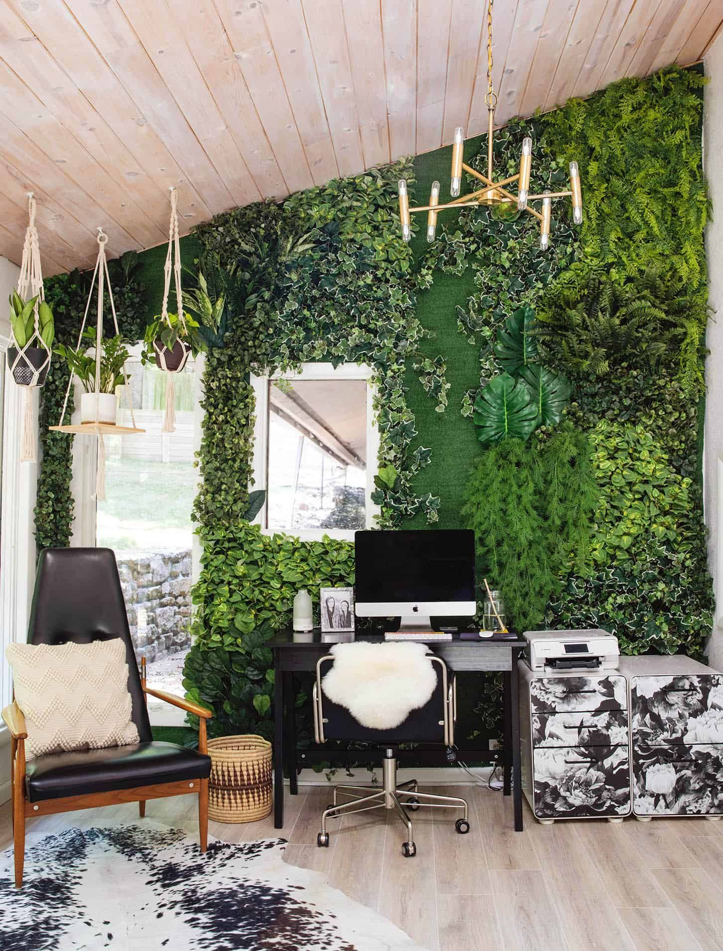 Full step by step tutorial for creating a faux living wall from abeautifulness com
