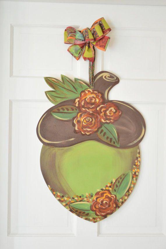 Acorn Door Hanger by LessieAdoorableSigns on Etsy & Acorn Door Hanger by LessieAdoorableSigns on Etsy | fall | Pinterest ...