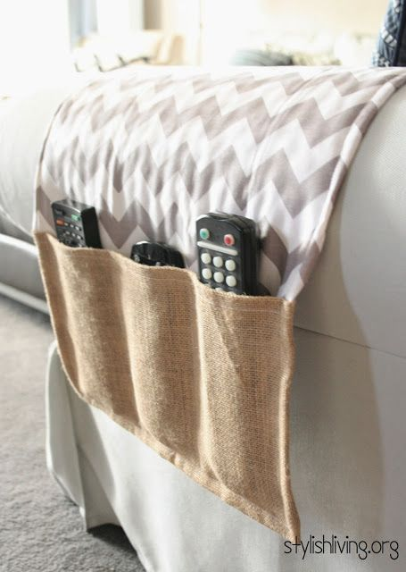35 DIY Gifts for the Men in Your Life - Remote holder, Diy holder, Diy sofa, Sewing gifts, Diy, Diy gifts - Give those special guys in your life thoughtful gifts they'll love with these handmade gifts that are all the more special because you made them yourself