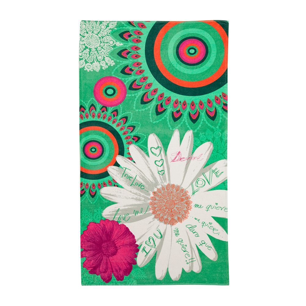 Spa Towels By Kassafina: Discover The Desigual Margarita Beach Towel At Amara