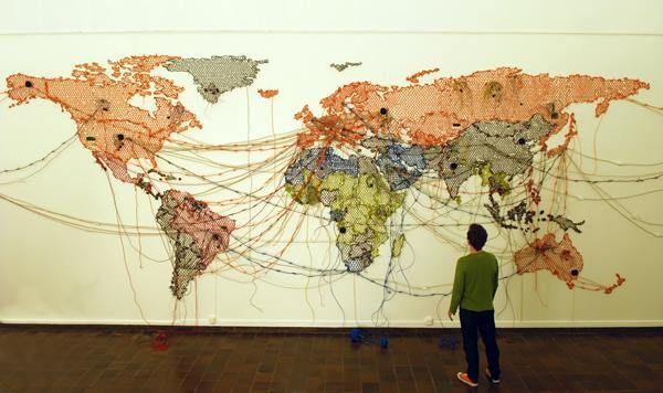 Artist Reena Saini Kallat Arte Con Mapas Como Dibujar Cosas Produccion Artistica