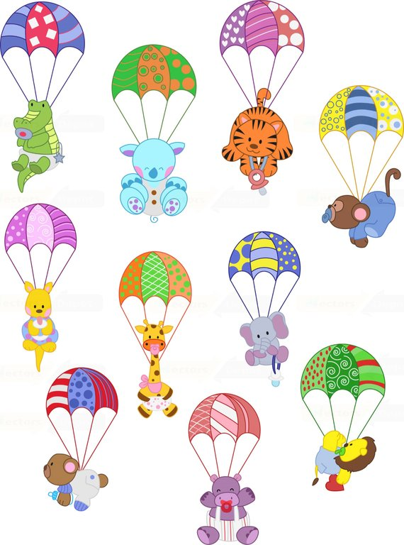 Cute Flying Parachute Animals Animals Parachute Animals Commercial