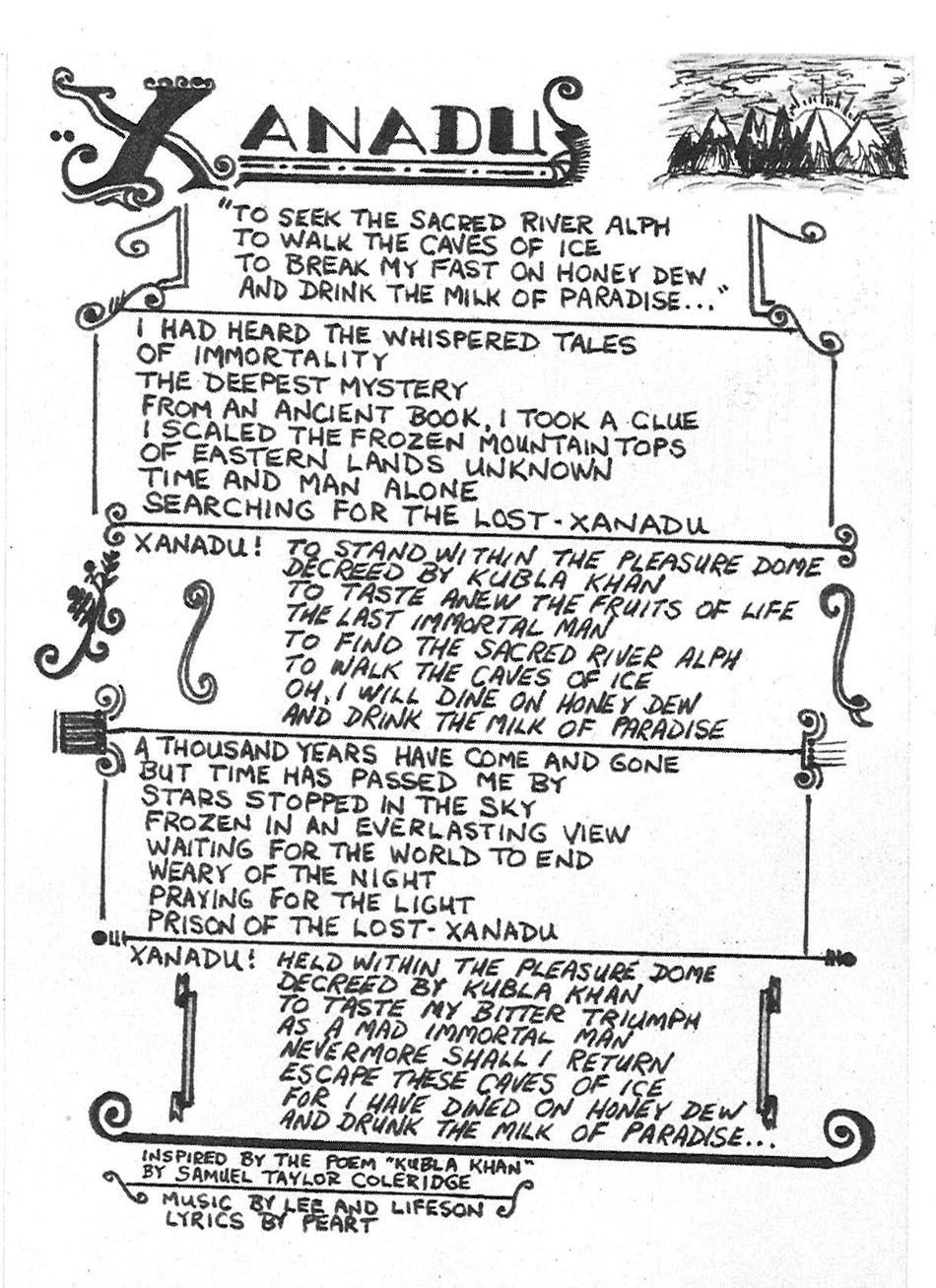 Lyrics to xanadu by rush