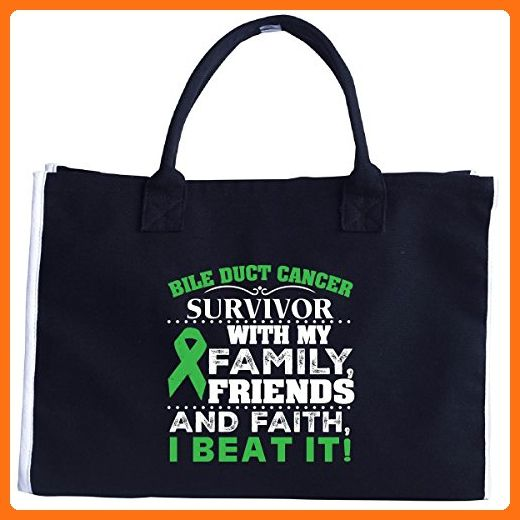 With My Family Friends And Faith I Beat Bile Duct Cancer Tote Bag Top