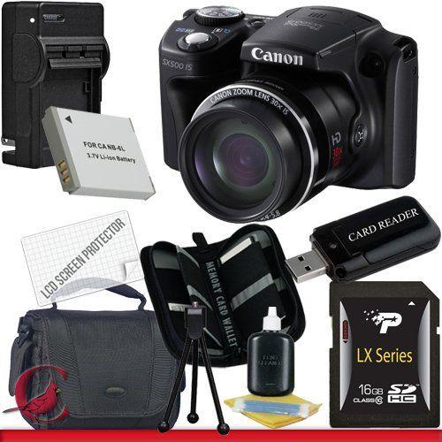 Canon Powershot Sx500 Is Digital Camera 16gb Package 2 By Canon 309 99 Package Contents 1 Canon Powershot Digital Camera Memory Card Reader Cinema Camera