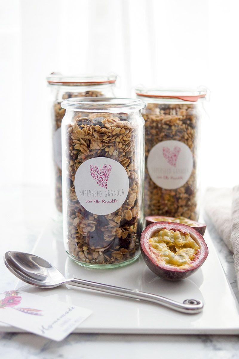knusper m sli mit superk rnern superseed granola rezept fitness pinterest. Black Bedroom Furniture Sets. Home Design Ideas