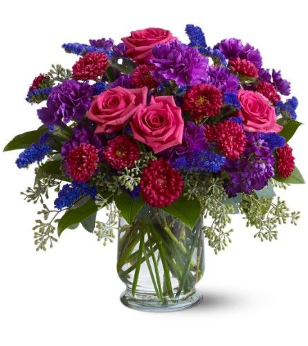 Pink purple flower arrangements google search flower for Pink and blue flower arrangements