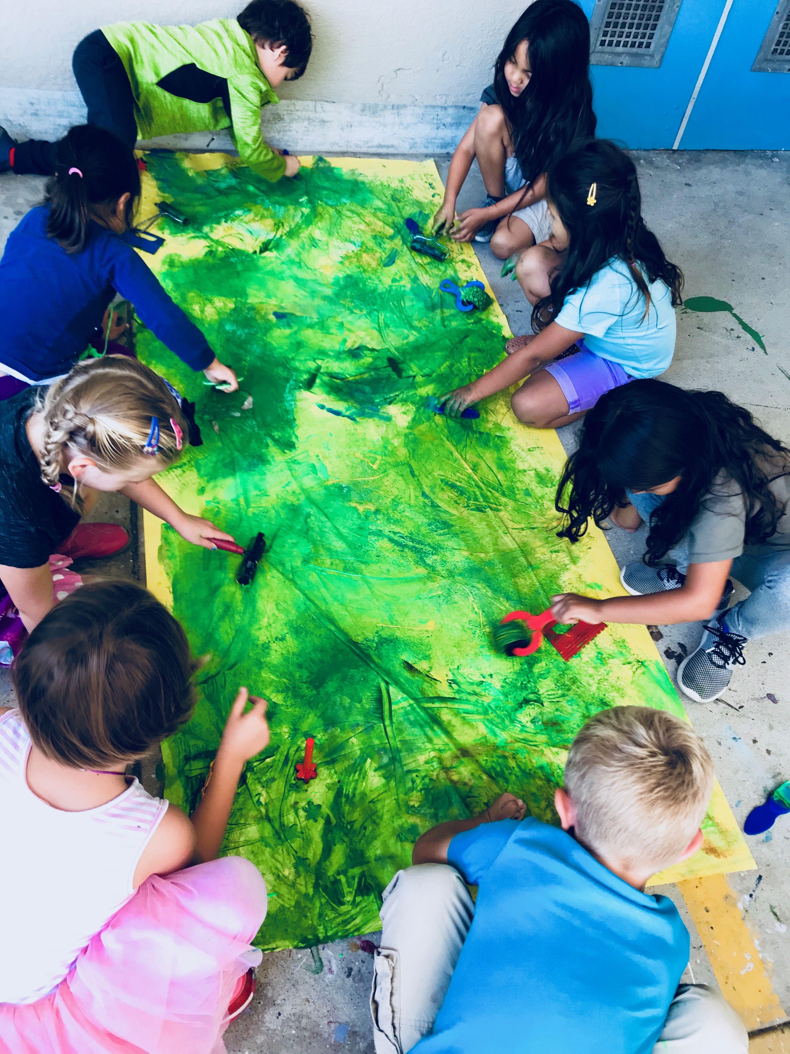 Eric Carle Texture Painting Kindergarten