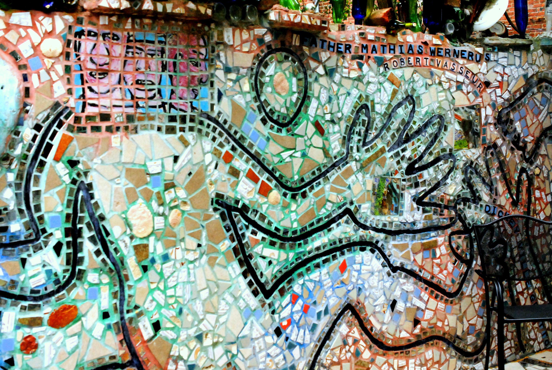Philadelphia's Magic Gardens using mosaic, tile, broken