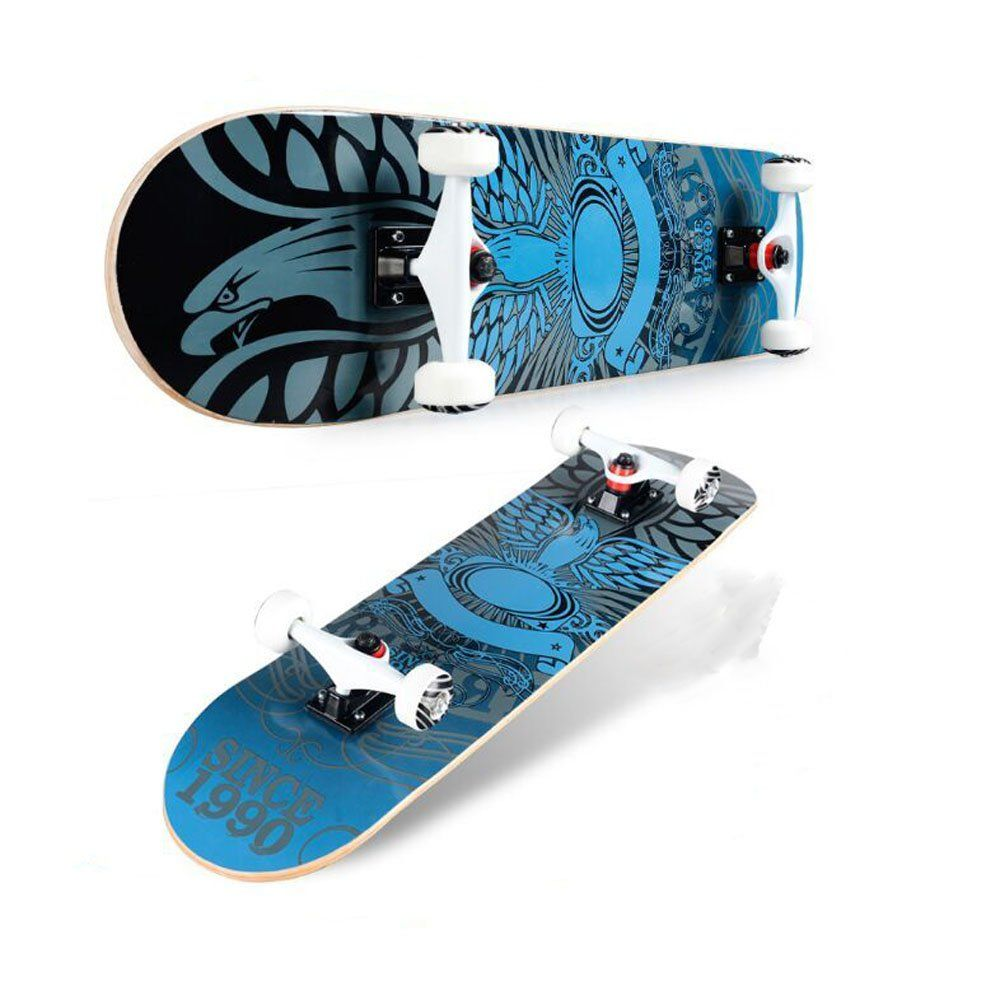 Generic Skateboards Free Wing Complete 31Inch Skateboard with Canadian Maple. Skateboard Dimension:79CMx20CMx10Cm Weight:about3KG Materials:Use impact resistance ABS material base,Steel,Wheel Material: PU Truck Material: Aluminium Alloy For 5 Years old to Adult.